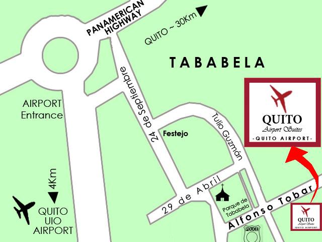 Tababela Ecuador map